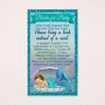 PartyStoreGalore Mermaid Baby Book Request Inserts Baby Shower #130