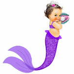 """Mermaid Baby Girl Statuette<br><div class=""""desc"""">Mermaid baby girl sculpture is perfect for use as a baby shower table decoration or as a baby shower gift for use in baby&#39;s room. This adorable mermaid photo sculpture comes with a base so it will stand.</div>"""