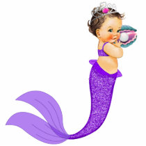 Mermaid Baby Girl Statuette