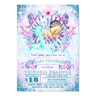 Mermaid Baby Mermaid Baby Shower Invitations