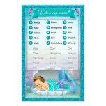 Mermaid Baby Shower Animal Match Game #130 Flyer