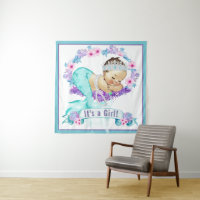 Mermaid Baby Shower Backdrop Banners