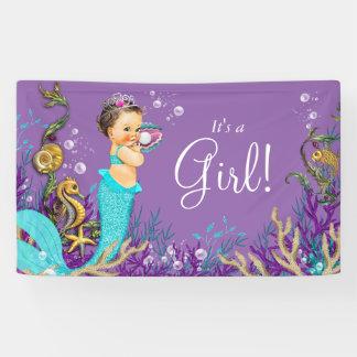 Mermaid Baby Shower Banner