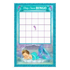 Mermaid Baby Shower Bingo Game Card #130