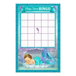 Mermaid Baby Shower Bingo Game Card #130