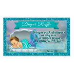 Mermaid Baby Shower Diaper Raffle Tickets #130 Business Card