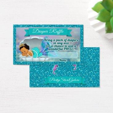 Beach Themed Mermaid Baby Shower Diaper Raffle Tickets #136