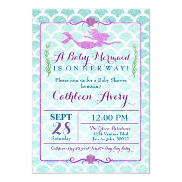 party_depot Mermaid Baby Shower Invitation
