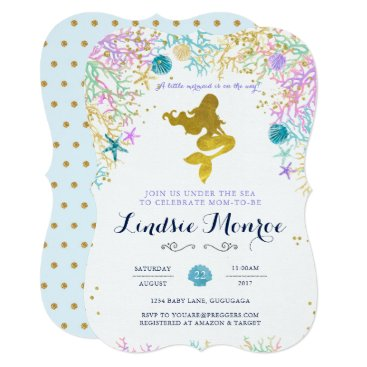 Lucky_Plum_Studio Mermaid Baby Shower Invitation