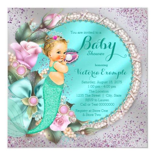 mermaid baby shower invitation zazzle