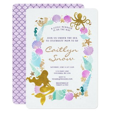 Toddler & Baby themed Mermaid Baby Shower Invitation