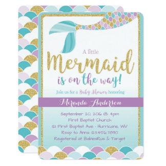 Mermaid Baby Shower Invitations & Announcements   Zazzle