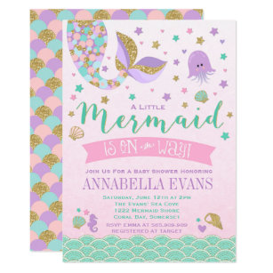 Little Mermaid Invitations Announcements Zazzle