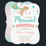 "Mermaid Baby Shower Invitation Little Mermaid Baby<br><div class=""desc"">Mermaid baby shower invitation Coral Teal and Gold under the sea party invitation. A perfect Way to announce your under the sea Mermaid Baby Shower. All design are  &#169; PIXELPERFECTIONPARTYLTD</div>"
