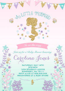 Pink and teal baby shower invitations announcements zazzle mermaid baby shower invitation pink teal purple filmwisefo Gallery