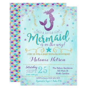 graphic regarding Printable Mermaid Baby Shower Invitations named Mermaid Little one Shower Invitation Sprinkle