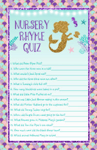 Mermaid Baby Shower Games Package Club Receipts