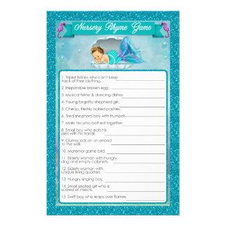 Mermaid Baby Shower Nursery Rhyme Game #130 Flyer