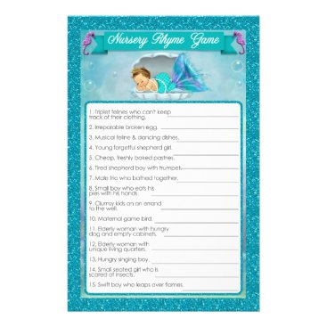 Toddler & Baby themed Mermaid Baby Shower Nursery Rhyme Game #130 Flyer