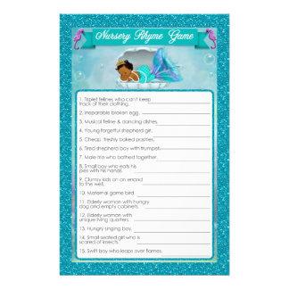 Mermaid Baby Shower Nursery Rhyme Game #135 Flyer