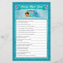 Mermaid Baby Shower Nursery Rhyme Game #136