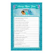 Mermaid Baby Shower Nursery Rhyme Game #136 Flyer