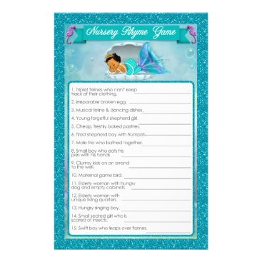 Toddler & Baby themed Mermaid Baby Shower Nursery Rhyme Game #136 Flyer