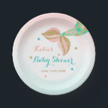 """Mermaid Baby Shower Paper Plate 7&quot; Mermaid Shower<br><div class=""""desc"""">Mermaid Baby Shower 7&quot; Paper Plate.  All designs are &#169; PIXEL PERFECTION PARTY LTD</div>"""