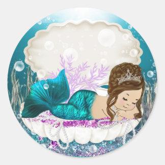 Mermaid Baby Shower Stickers