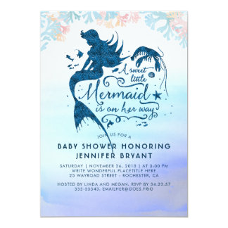 Mermaid Baby Shower Under The Sea Ocean Card