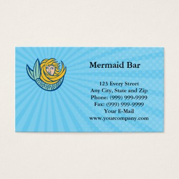 Professional Business Mermaid Bar Business card