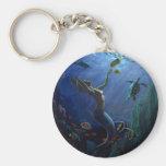 Mermaid Basic Round Button Keychain