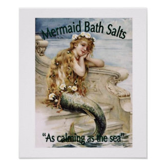 Mermaid Bath Salts Poster