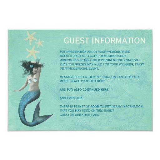 Mermaid Beach Coastal Guest Information Cards
