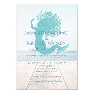 Mermaid Beach Or Lakeside Wedding Invitation