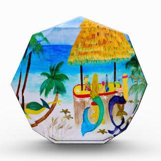 Mermaid Beach Tiki Bar Art Acrylic Award
