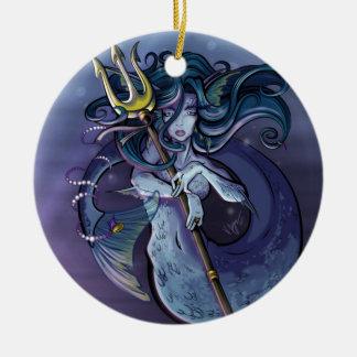 Mermaid Beautiful Art Illustration Ceramic Ornament