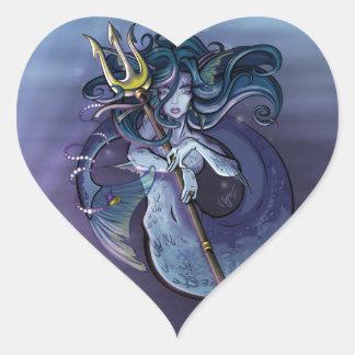Mermaid Beautiful Art Illustration Heart Sticker