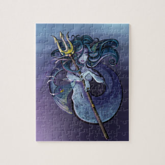 Mermaid Beautiful Art Illustration Jigsaw Puzzle