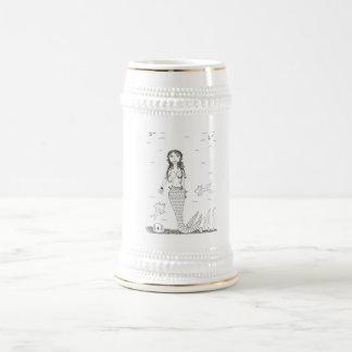 Mermaid Beer Stein