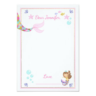 Mermaid Birthday guestbook cards Time Capsule Girl