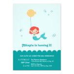 "Mermaid Birthday Invitation 5"" X 7"" Invitation Card"