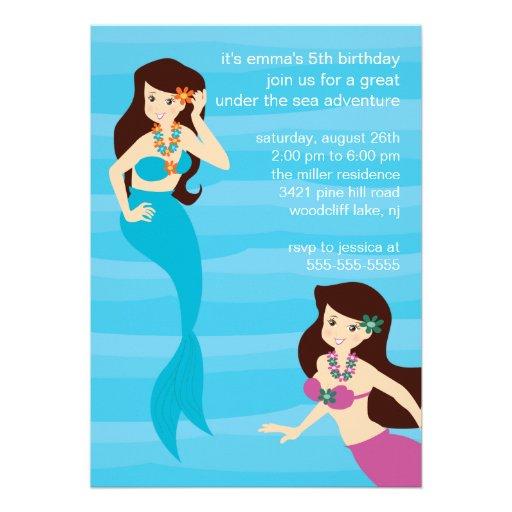 Mermaid Birthday Invitation