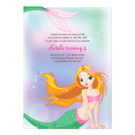 Mermaid Birthday Invitation Card