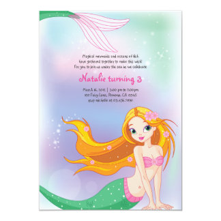 Mermaid Birthday Invitation Card