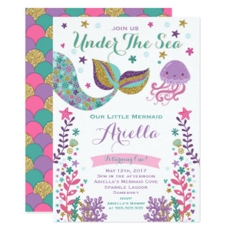 under the sea birthday party invitations & announcements | zazzle, Birthday invitations