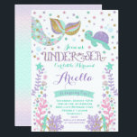 "Mermaid Birthday Invitation Under The Sea Party<br><div class=""desc"">Mermaid birthday invitation pink gold under the sea party invitation. A perfect Way to announce your under the sea party.</div>"