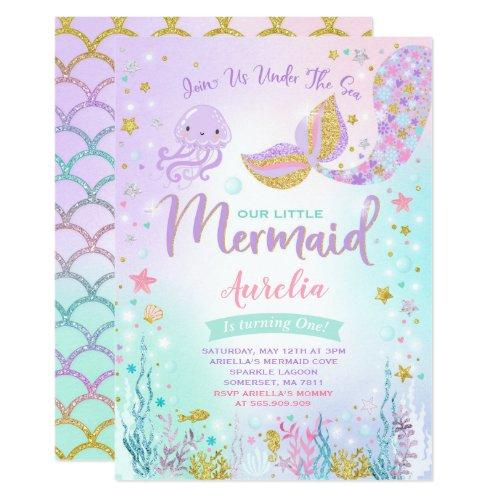 Mermaid Birthday Invitation Under The Sea Party