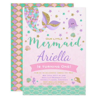 mermaid birthday invitation under the sea party - Under The Sea Party Invitations