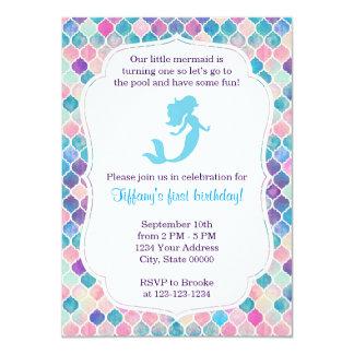 mermaid_birthday_invitation_with_back r30e8a8a90755493093e61895012d49bc_zk9li_324?rlvnet=1 little mermaid invitations & announcements zazzle,Little Mermaid Birthday Invitations